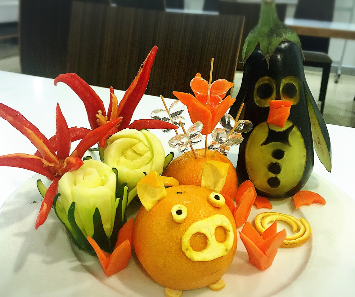 Tallado de Frutas y verduras